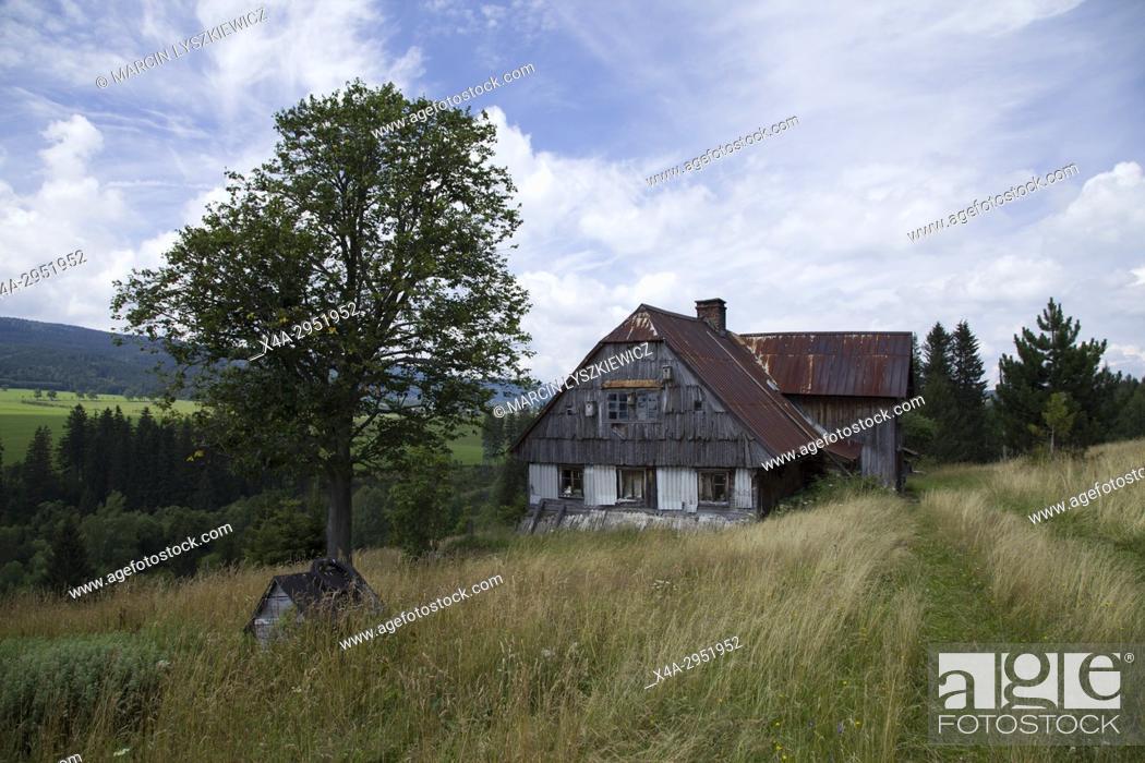 Stock Photo: Piaskowice - Abandon Village in Western Poland.