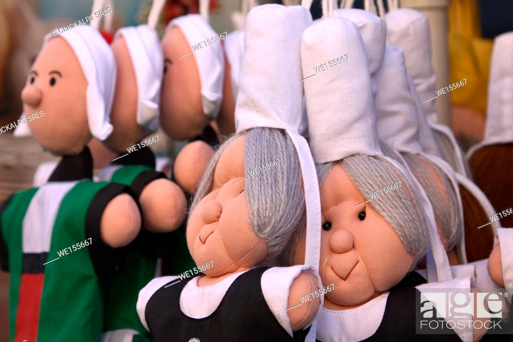 Stock Photo: Brittany, France. Brittany dolls.