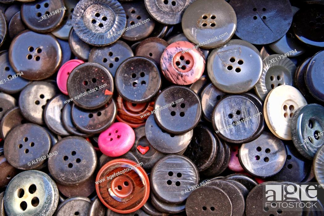 Stock Photo: pearl buttons.