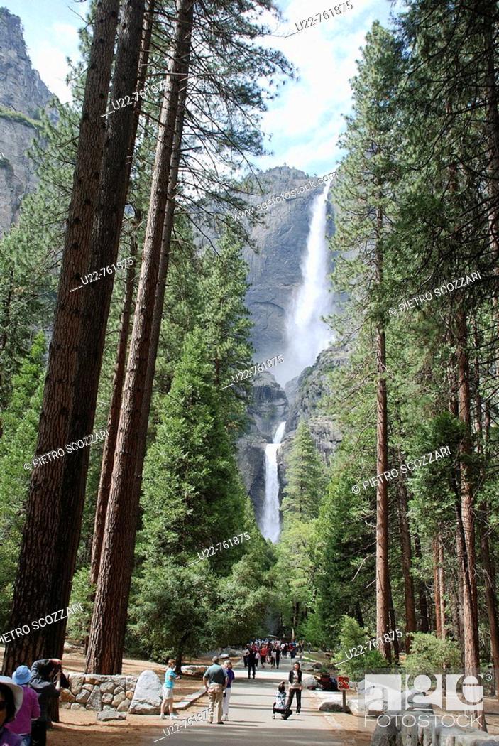Stock Photo: Yosemite National Park California, waterfall.