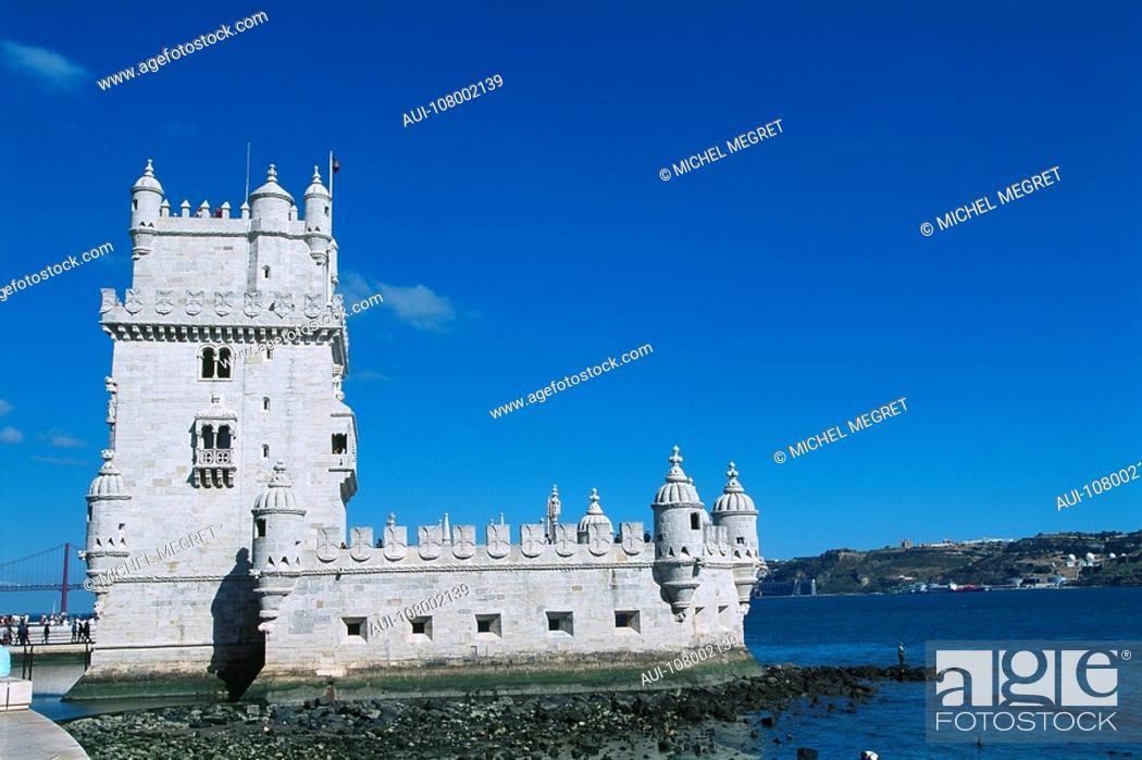 Stock Photo: Portugal - Lisbon - Torre de BÚlem.