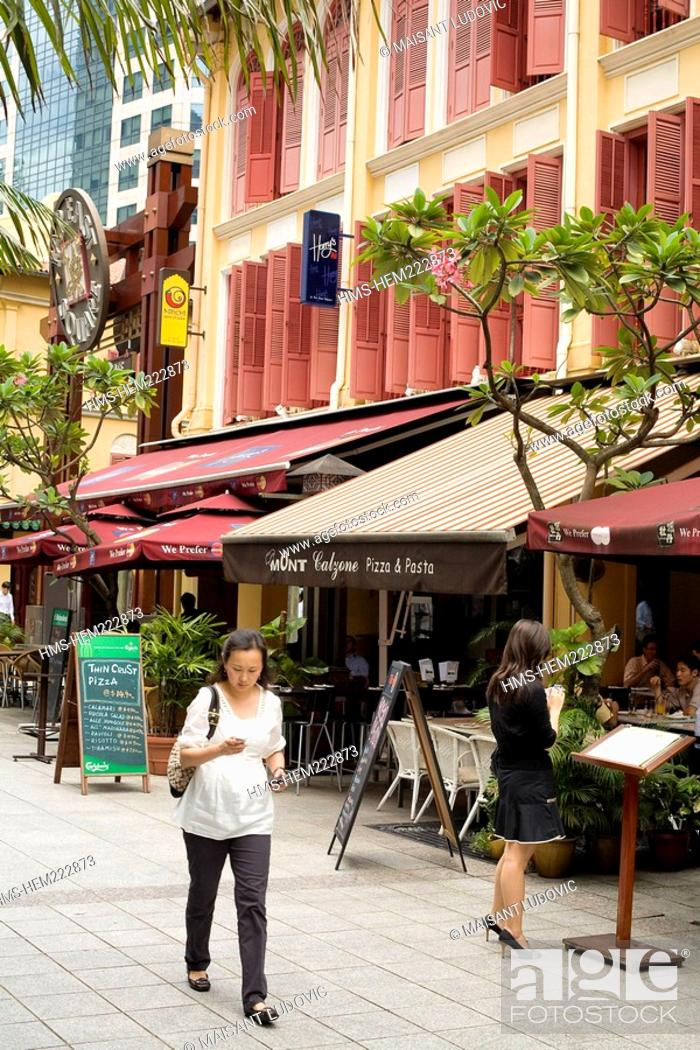 Stock Photo: Singapore, Central Business District near the Far East Square.