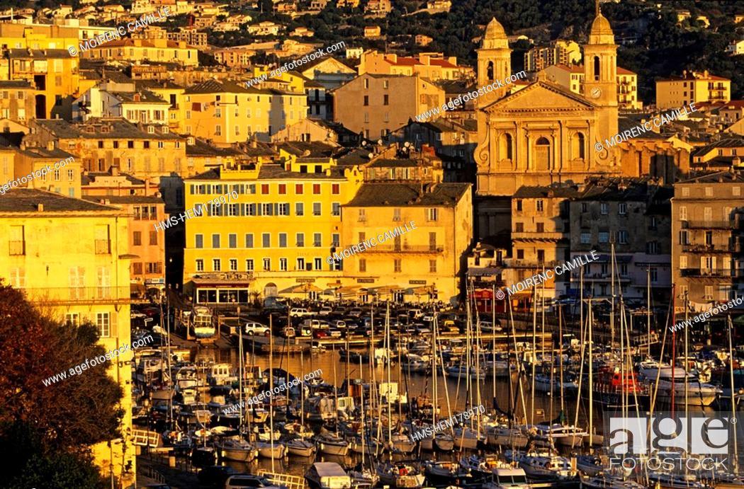 Stock Photo: France, Haute Corse, Bastia, old harbour.