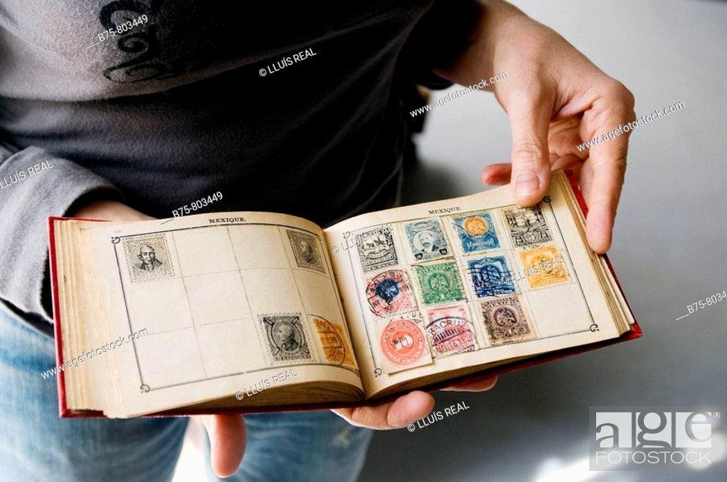 Stock Photo: Old Mexican stamps.