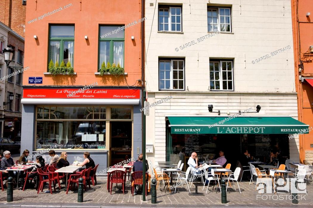 Stock Photo: Belgium, Brussels, the historic center, Sainte Catherine place.