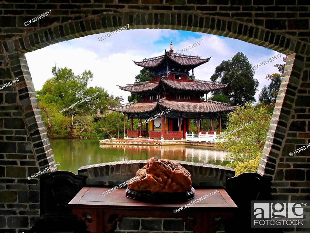 Stock Photo: A scenery view of Lijiang.