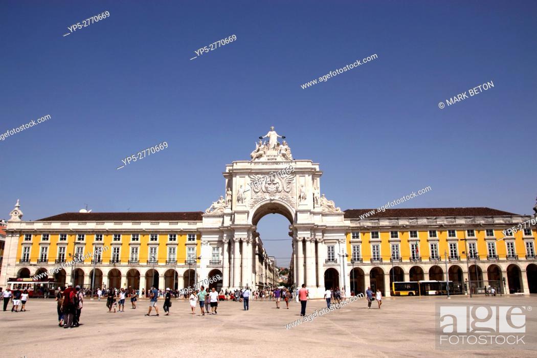Stock Photo: Praca do Comercio Lisbon Portugal.