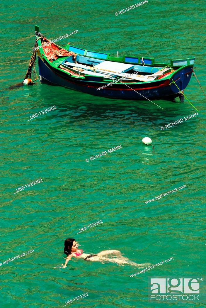 Stock Photo: Xlendi bay, Gozo, Malta.
