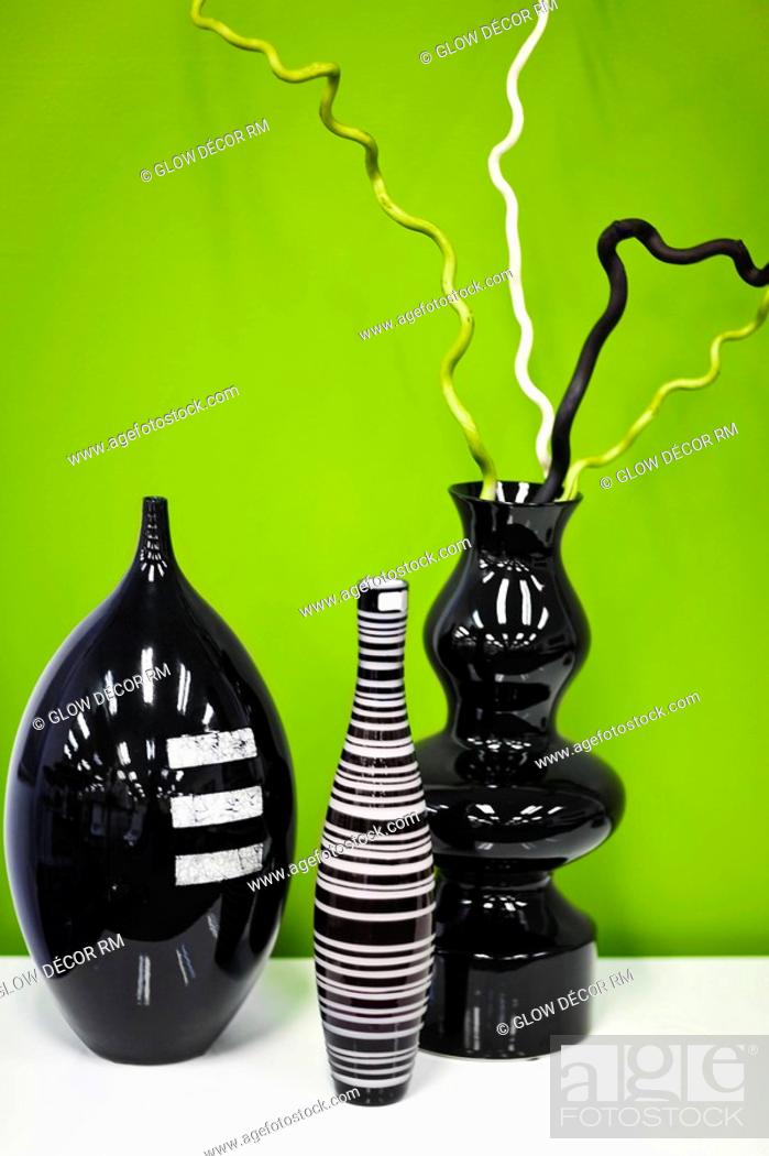 Stock Photo: Close-up of showpieces on a table.