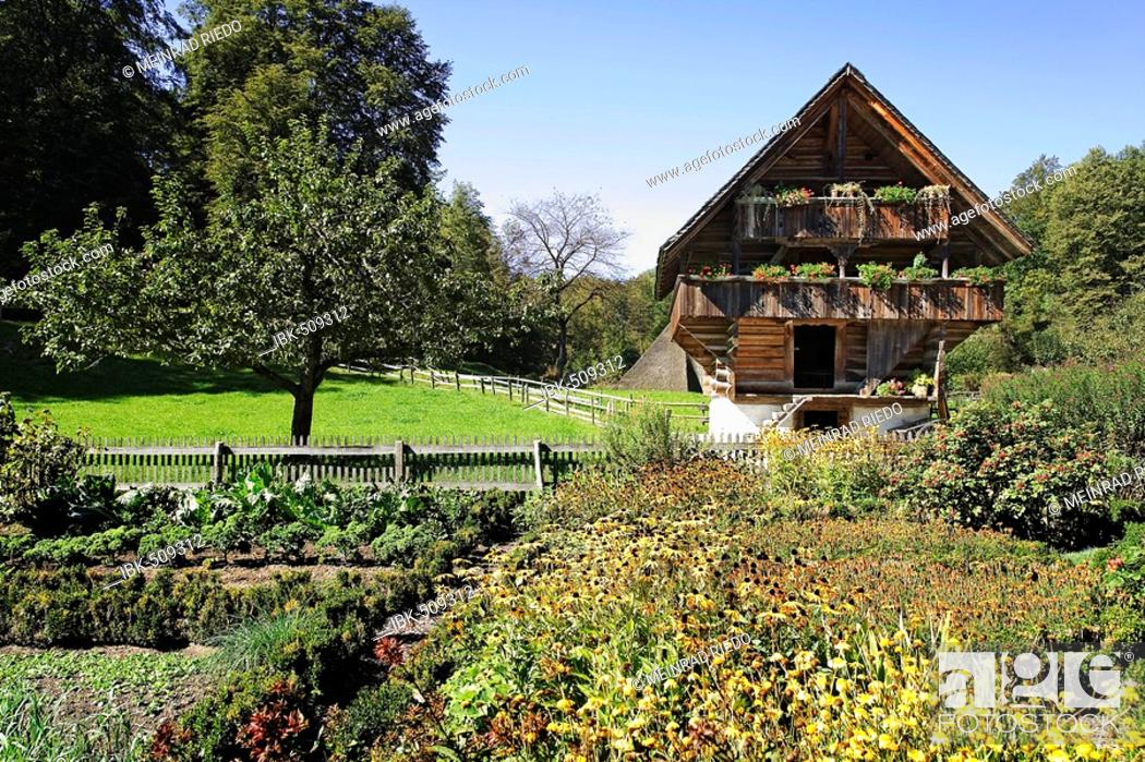 Stock Photo: Old storehouse, 17th century, Open-Air-Museum Ballenberg, Brienz, Switzerland, Europe.