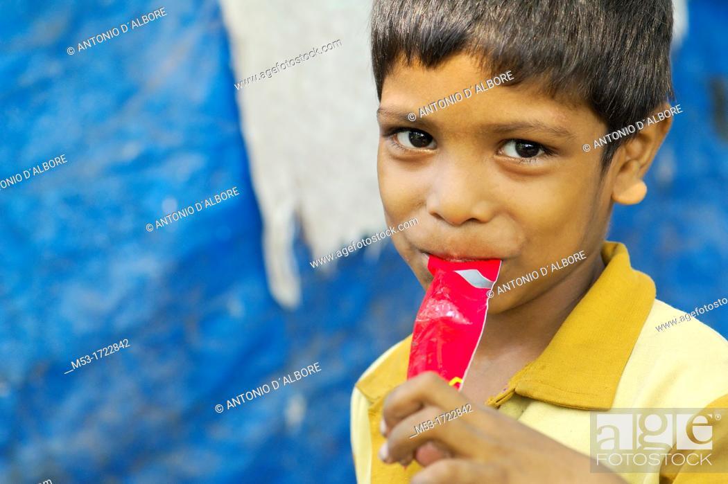 Stock Photo: portrait of indian boy in santacruz district  mumbai  maharashtra  india  asia.