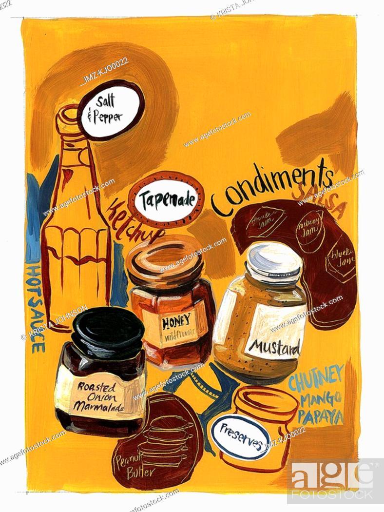 Stock Photo: condiments.