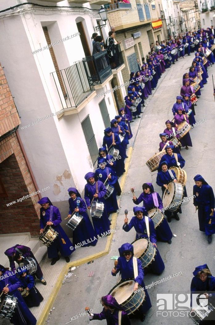Stock Photo: 'Tamborrada', Holy Week. Calanda. Teruel province. Spain.