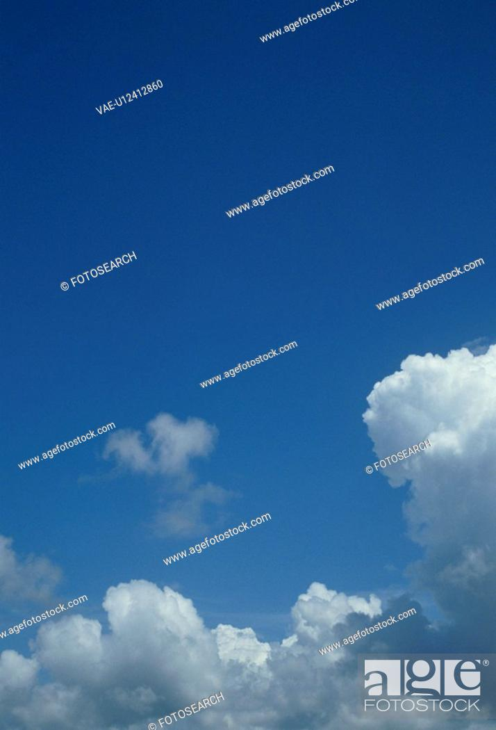 Stock Photo: The Blue Sky And Clouds.