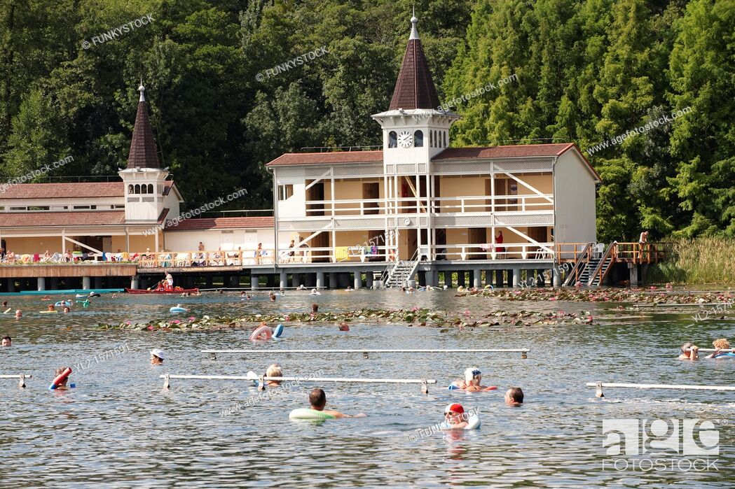 Stock Photo: Heves Thermal lake - Second largest thermal lake in the world with water at 35-36 degree C - Balaton - Hungary.