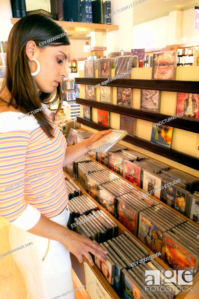 Stock Photo: Music store.