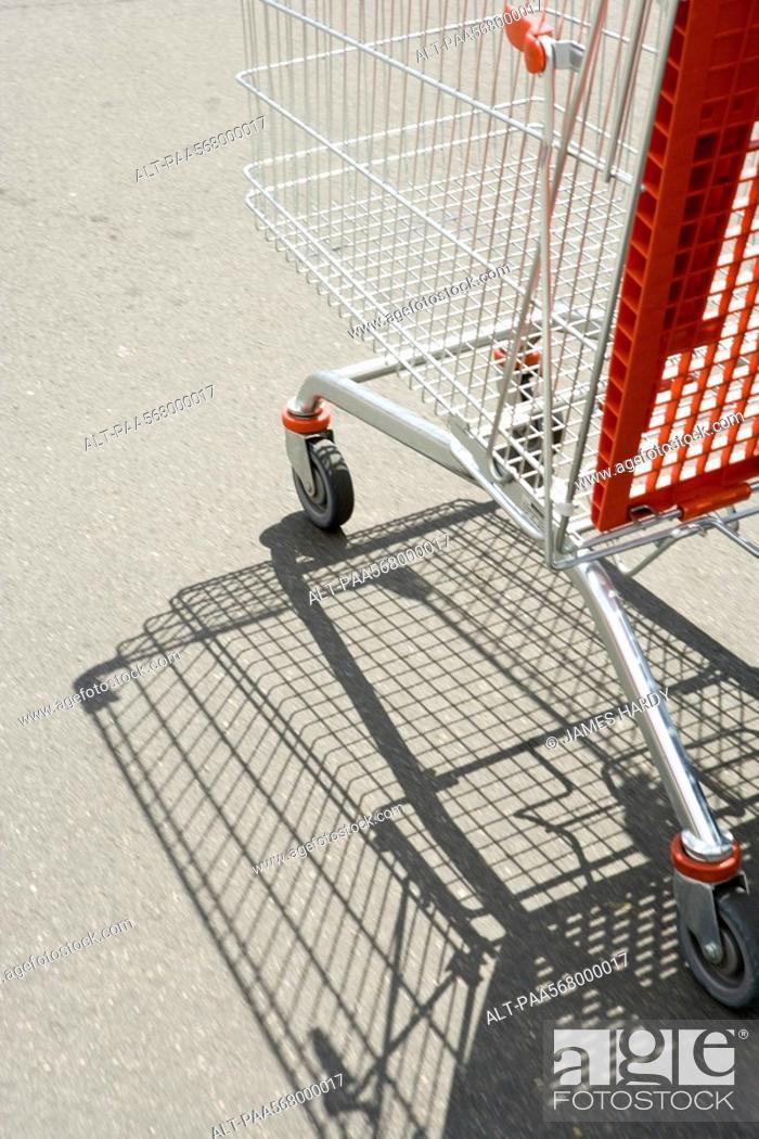 Stock Photo: Shopping cart outdoors.