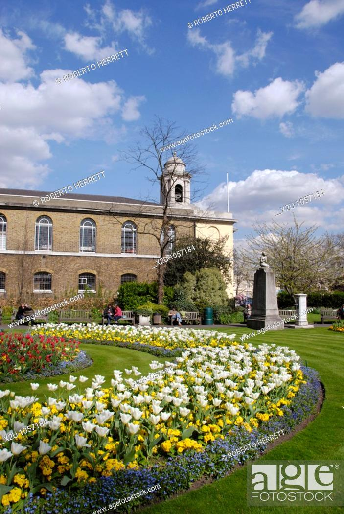 Stock Photo: St John's Wood Church and grounds, London, England.