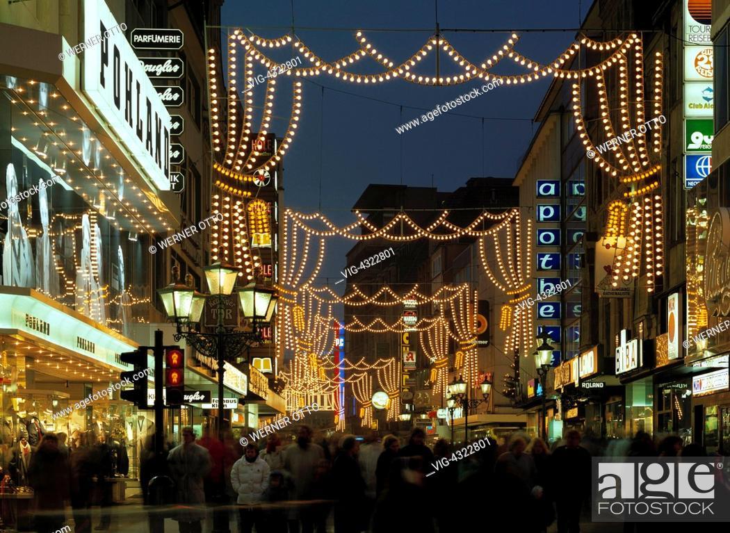 Otto Weihnachtsbeleuchtung.D Essen Ruhrgebiet Nordrhein Westfalen Weihnachten Lichterwochen