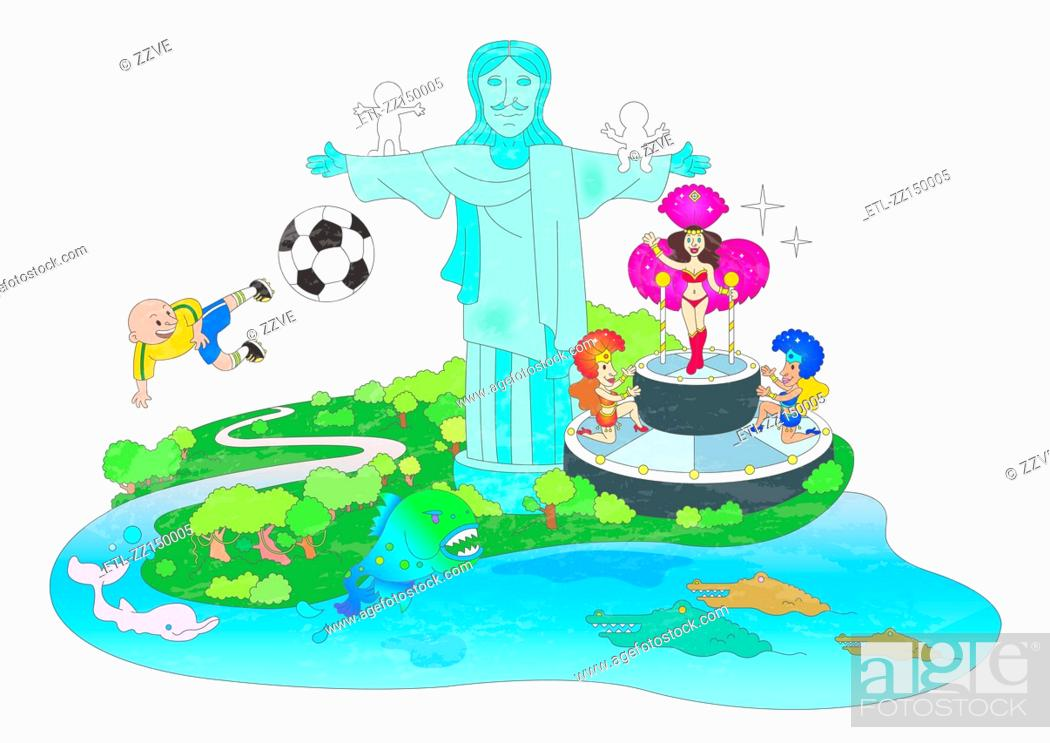 Stock Photo: Attractions of brazil.