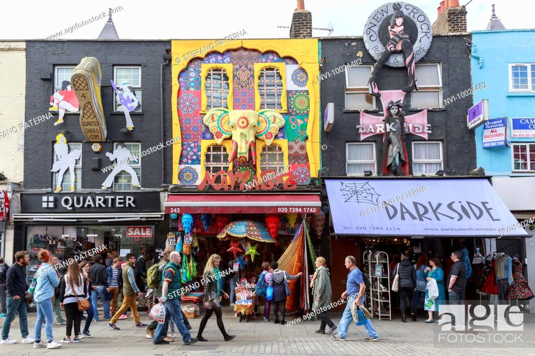 Photo de stock: Camden Market, Camden High Street, Camden Town, London, United Kingdom.