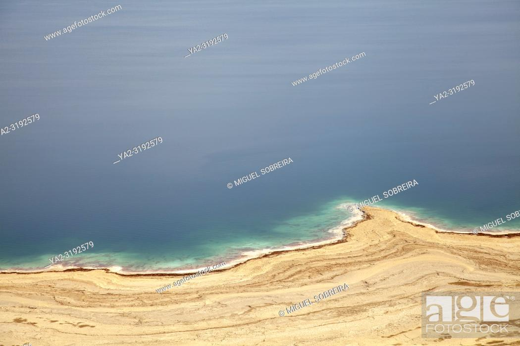Stock Photo: Dead Sea Coastline in Israel.