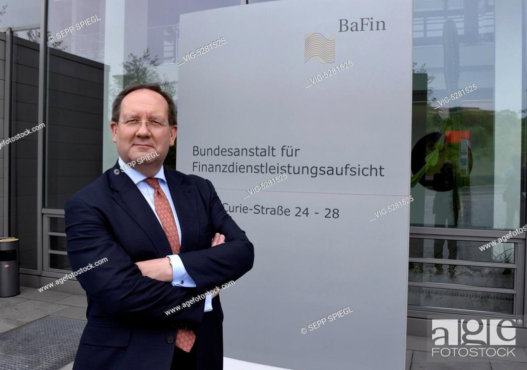 Stock Photo: Germany, Frankfurt, 12.05.2015 Felix Hufeld, President of BaFin, before the annual press conference. - Frankfurt, Germany, 12/05/2015.