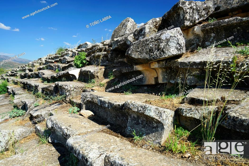 Stock Photo: Aphrodisias Stadium. Ancient Greece. Asia Minor. Turkey.
