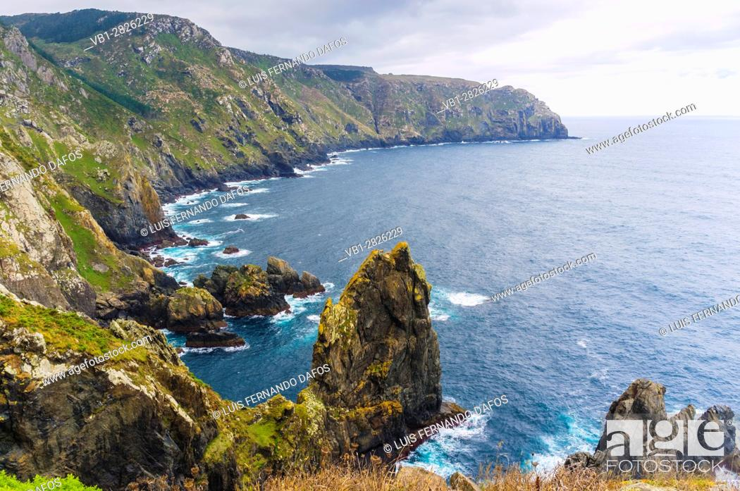 Imagen: Cliffs at Cabo Ortegal cape, the highest cliffs in Europe. Coruña province, Galicia, Spain, Europe.