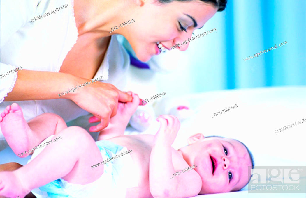 Stock Photo: Mother and Baby Boy.