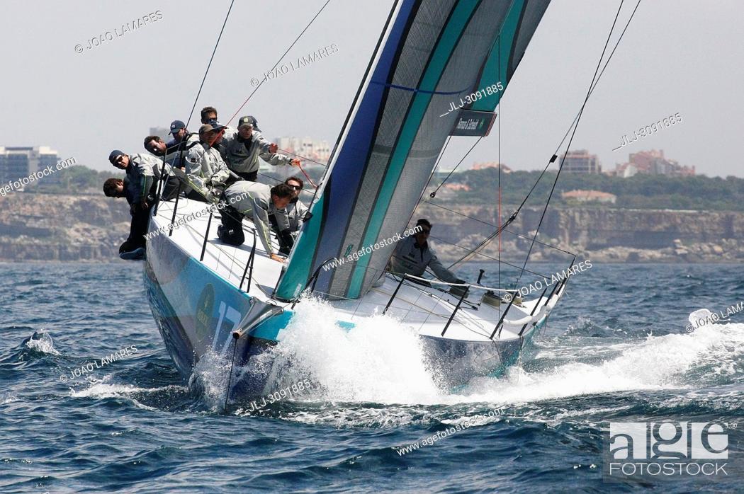 Stock Photo: Onda, #17, Owner: Eduardo de Souza Ramos, Sail nr: BRA017, Yacht Club ICS, Builder: King Marine; Rolex TP 52 World Championship, TP52 Super Serires, Cascais.