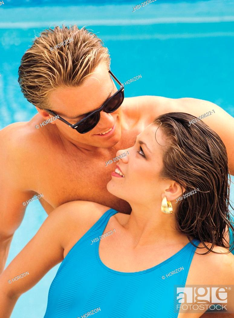 Stock Photo: Front view of couple looking at each other.