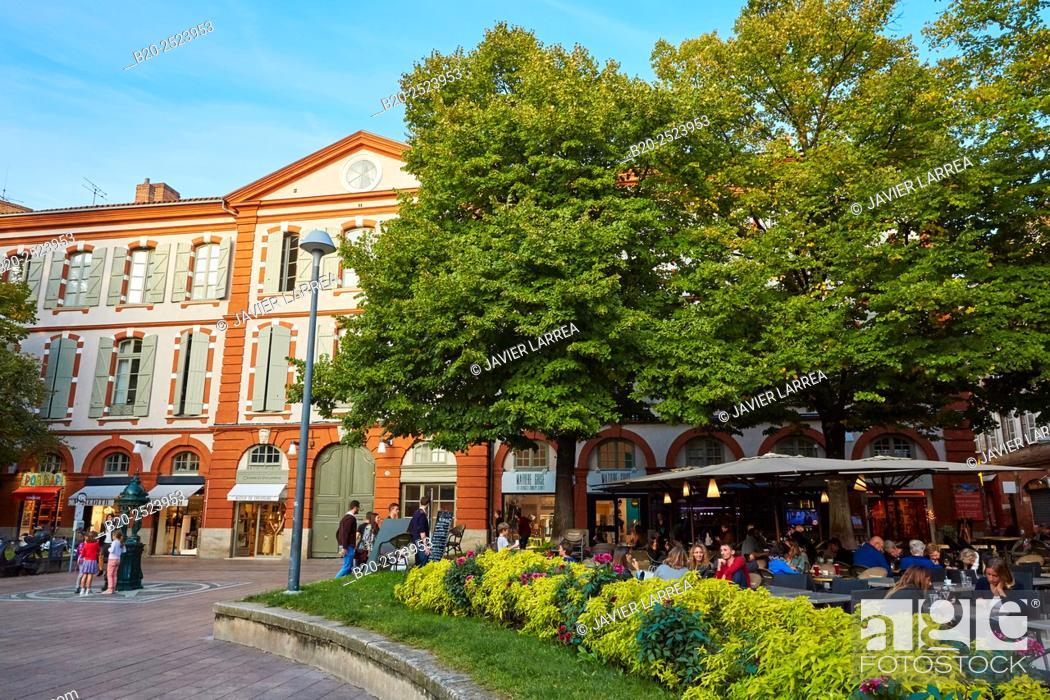 Stock Photo: Place Saint Georges. Toulouse. Haute Garonne. France.