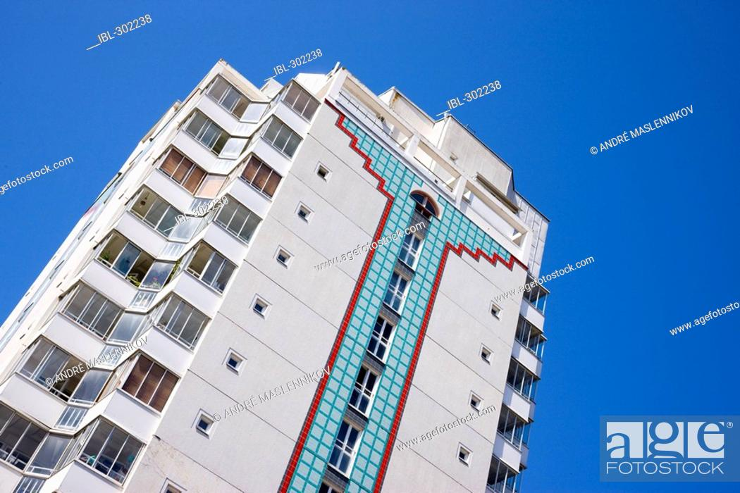 Stock Photo: Apartment building in Upplands Väsby, Sweden.