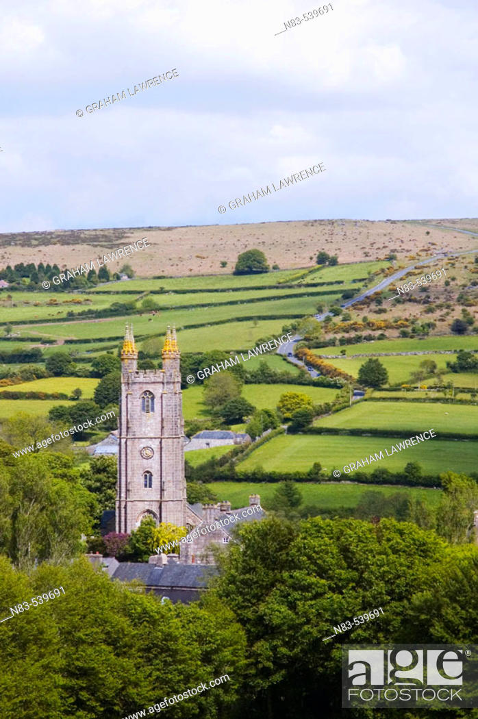 Stock Photo: Buckfast Abbey Buckfastleigh Dartmoor National Park South Hams Devon Great Britain.