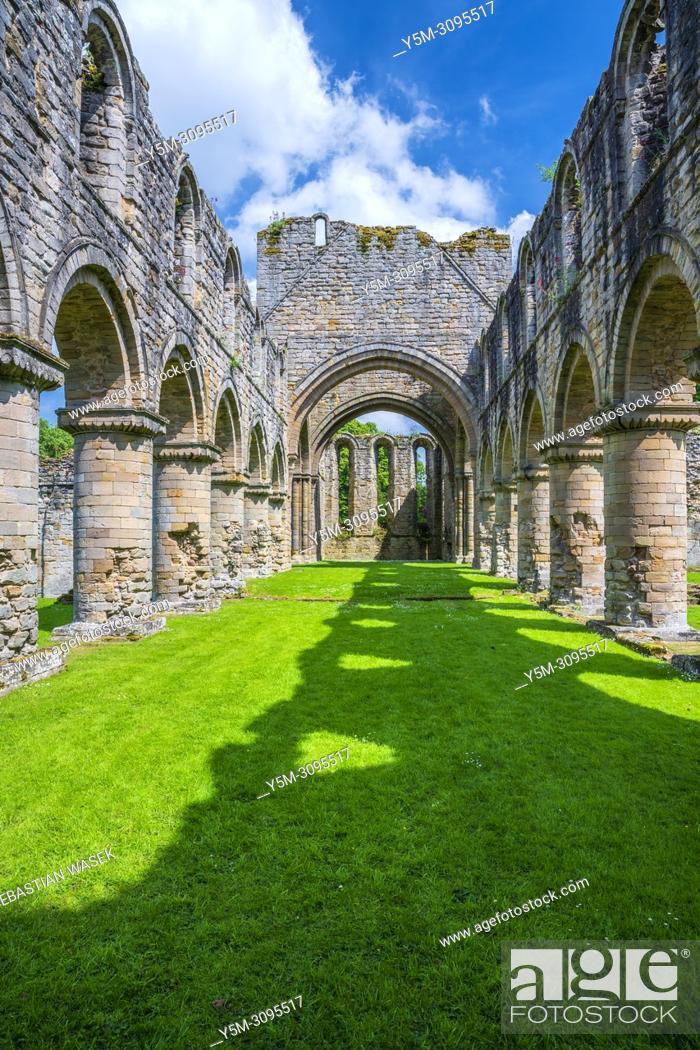 Stock Photo: Buildwas Abbey, Shropshire, England, United Kingdom, Europe.