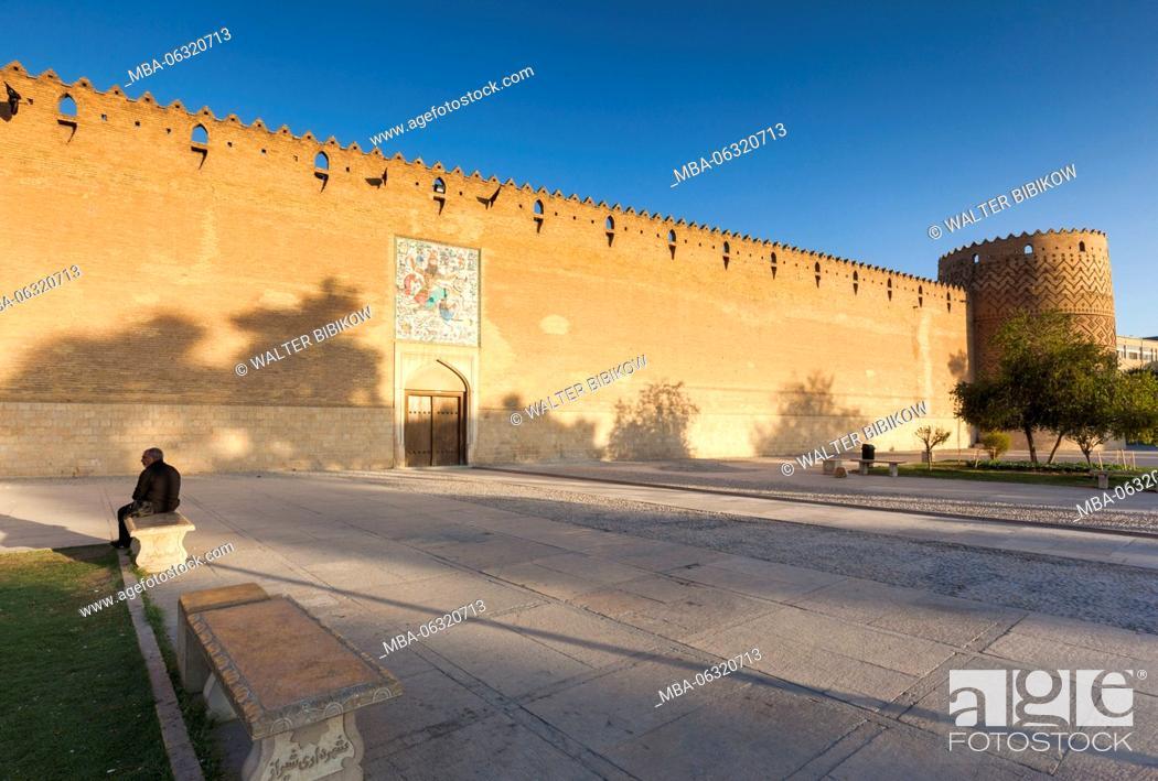 Photo de stock: Iran, Central Iran, Shiraz, Arg-e Karim Khan Citadel, fortress.
