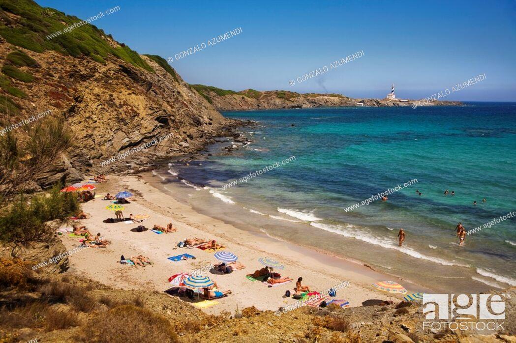 Stock Photo: Way to Cala Tortuga, S'Albufera des Grau Natural Park, Minorca, Balearic Islands, Spain.