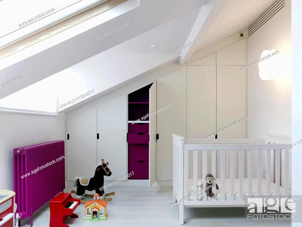 Stock Photo: Children's bedroom. Maida Vale House, London, United Kingdom. Architect: Stiff + Trevillion Architects, 2014.