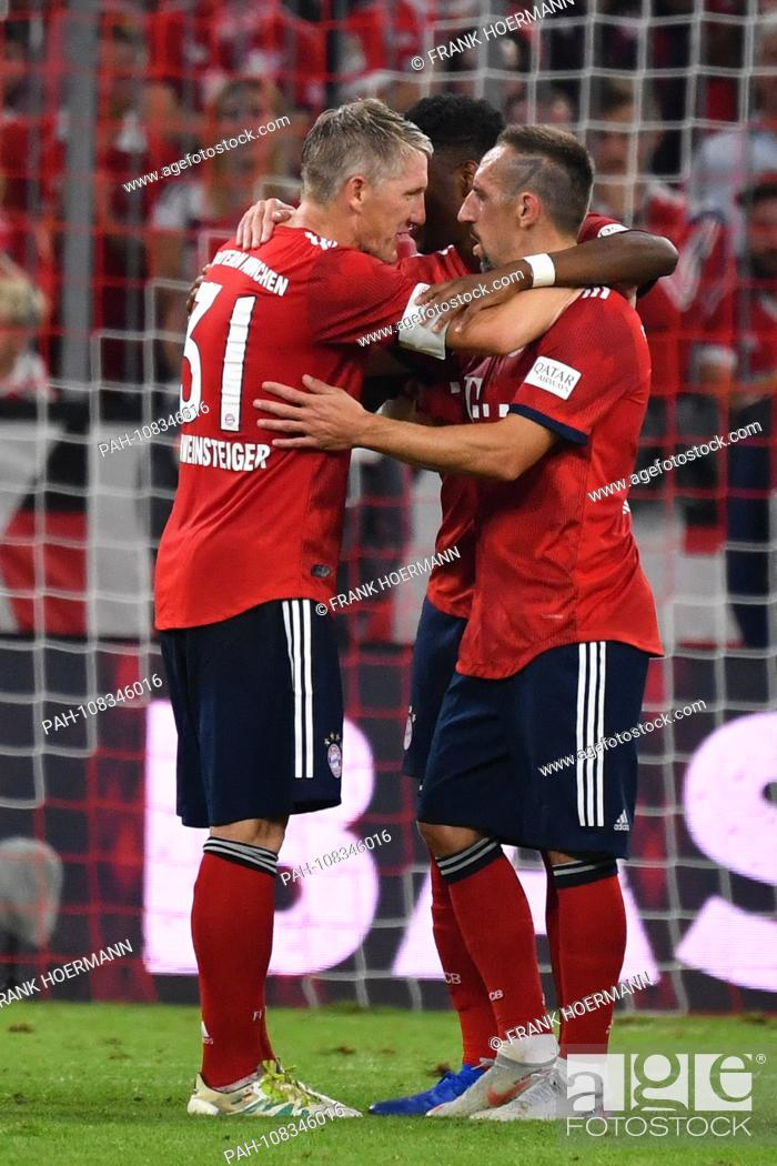 Bastian SCHWEINSTEIGER, is hugged after the end of the game