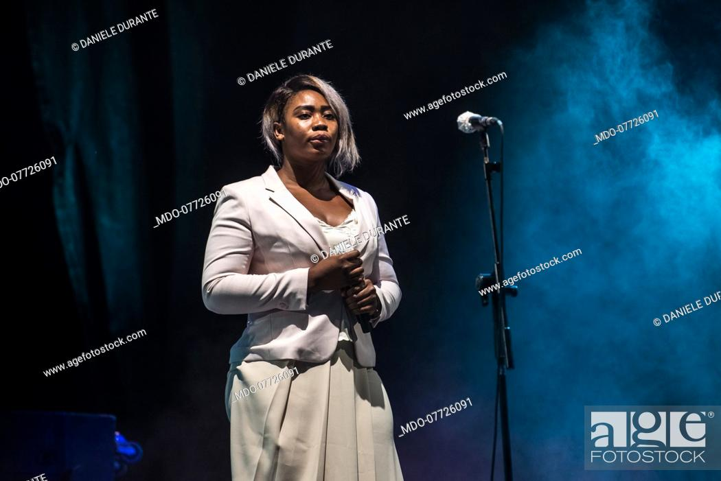 Imagen: Daniele Durante presents Taranta preview of the Contaminafro Festival 2020 at the Sforzesco Castle in Milan accompanied at the opening by the italian singer.