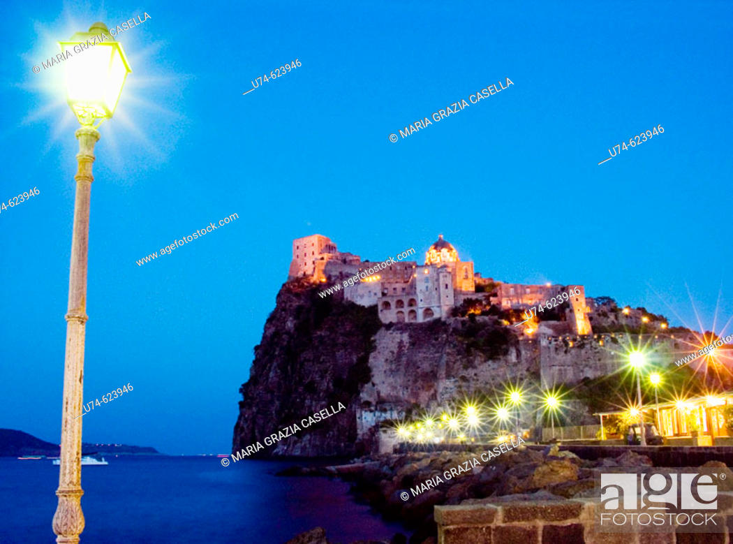 Stock Photo: Italy, Campania, Ischia Island, Aragonese Castle.