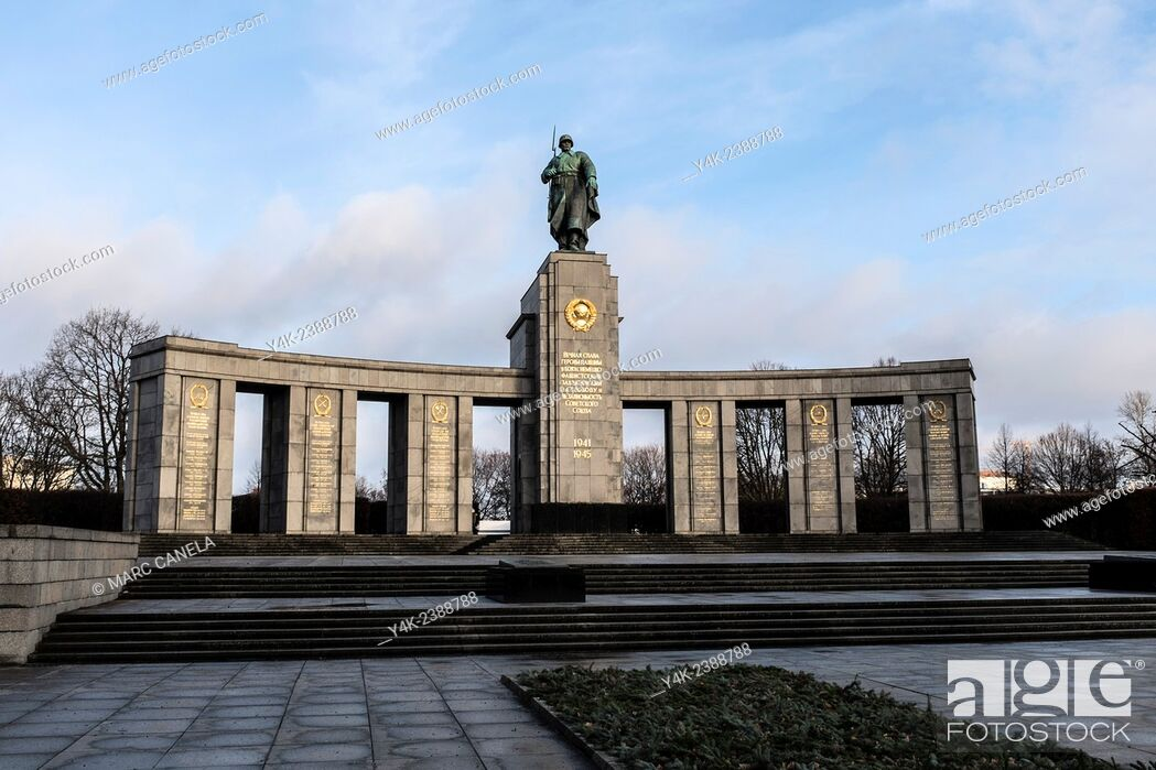 Stock Photo: Europe, Germany, Berlin, The Soviet War Memorial is a vast war memorial and military cemetery in Berlin's Treptower Park.