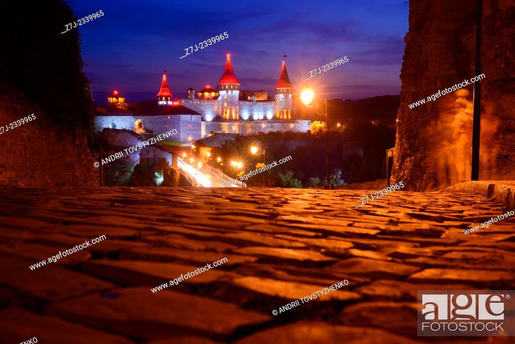 Stock Photo: view of the old castle in Kamenetz-Podolsk.Ukraine.