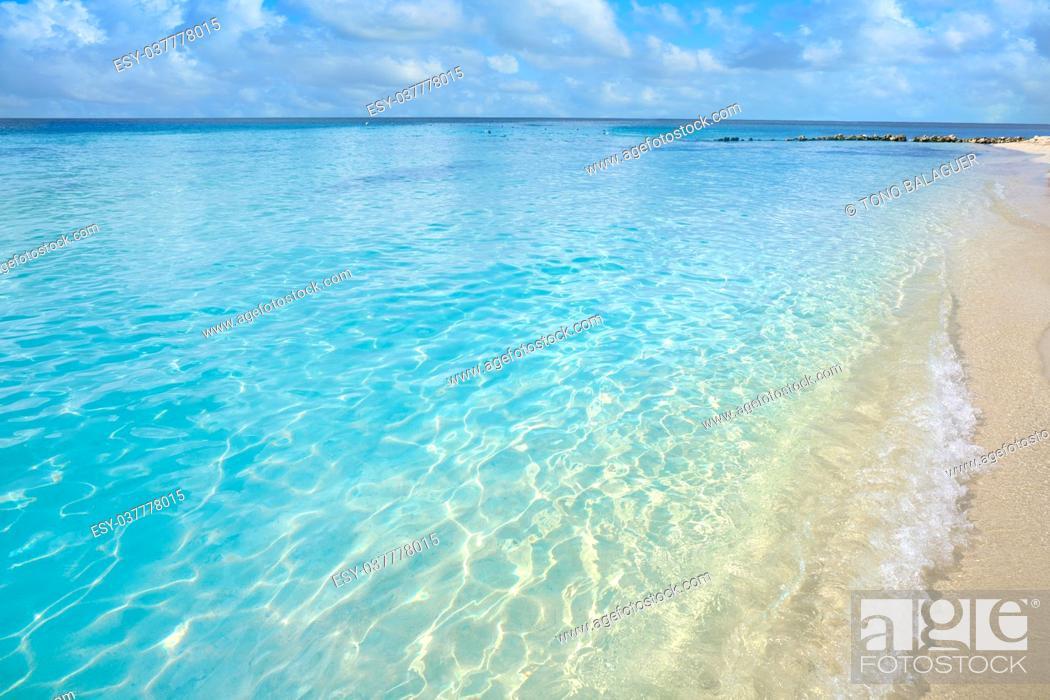 Stock Photo: Cozumel island Playa Palancar beach in Riviera Maya of Mayan Mexico.