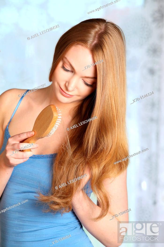 Stock Photo: woman hair beauty.