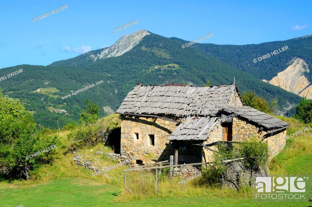Stock Photo: Abandoned Farm between Peone & Valberg Haut-Var Alpes-Maritimes France.