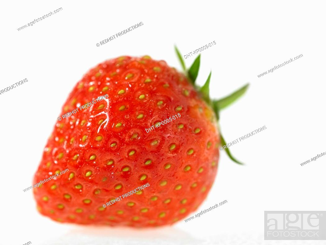 Stock Photo: One Strawberry.
