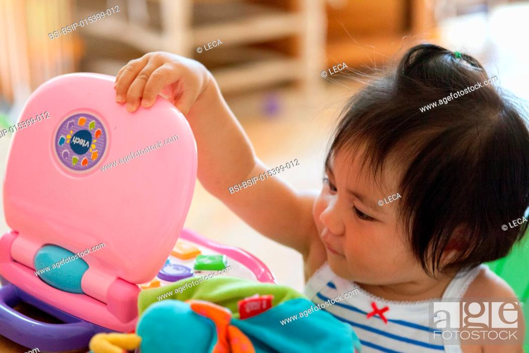 Stock Photo: One-year-old baby.