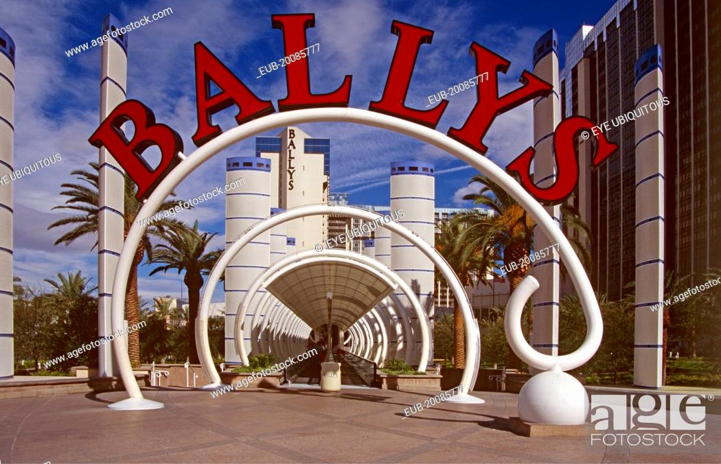 Stock Photo: Ballys Hotel and Casino, Las Vegas, Nevada, USA.